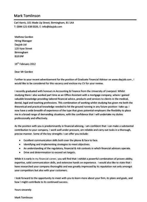 Resume Example, Image Graduate Example Cover Letters ~ Best Example