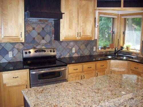 Consider The Beauty, Versatility And Durability Of Slate Tiles For Your  Kitchen Walls Or Backsplashes. Slate Tiles Exude Natural Warmth That Adds A  Cozy ...