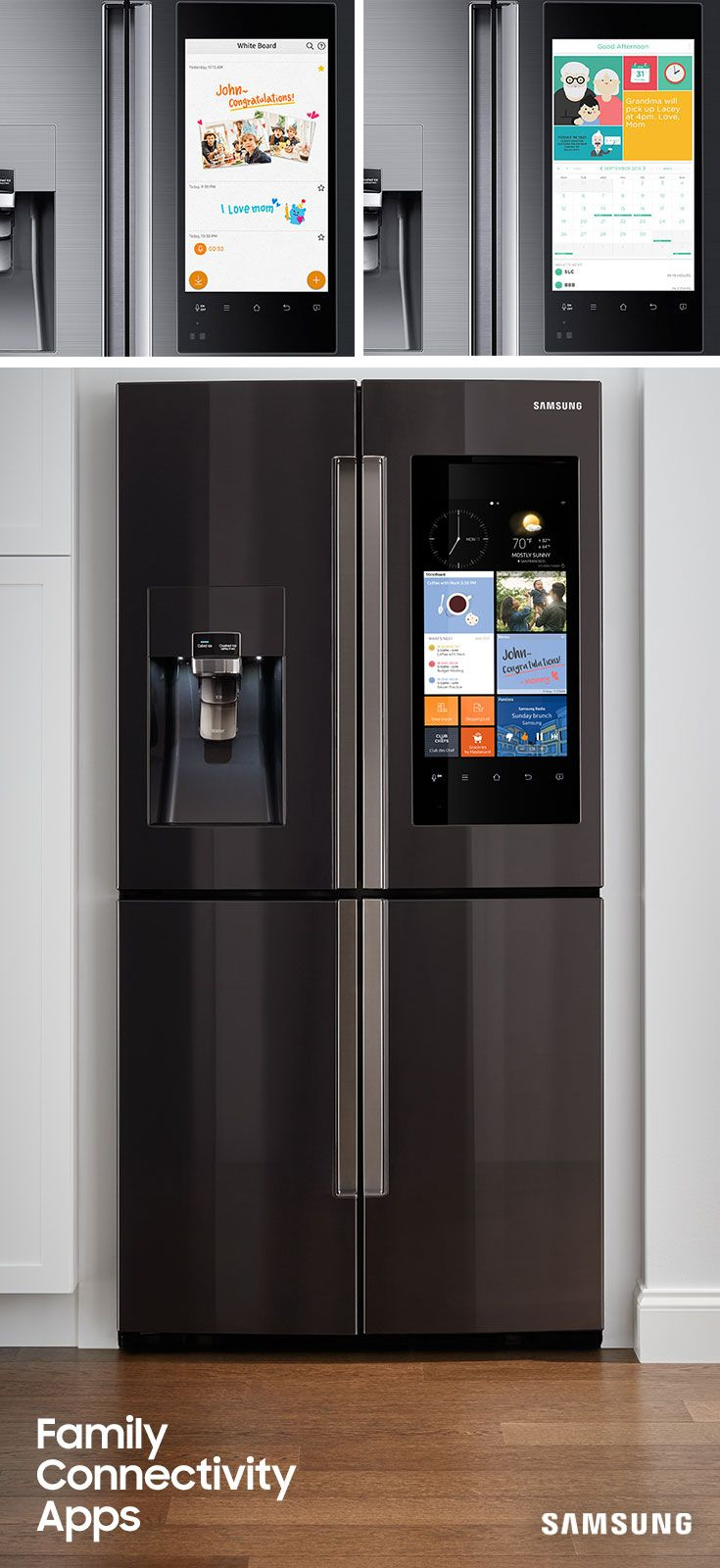 The Family Hub's customizable home screen makes organizational goals come  true. Display the apps your