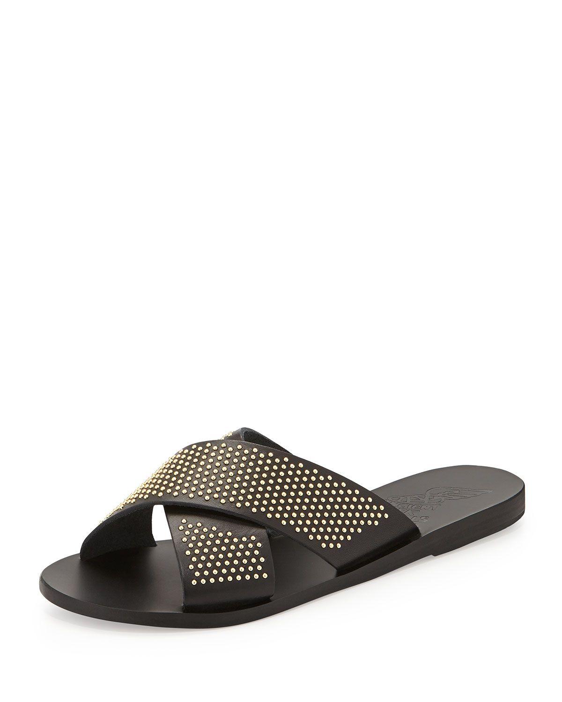 4af9ae5ca5fb Thais Studded Crisscross Sandal