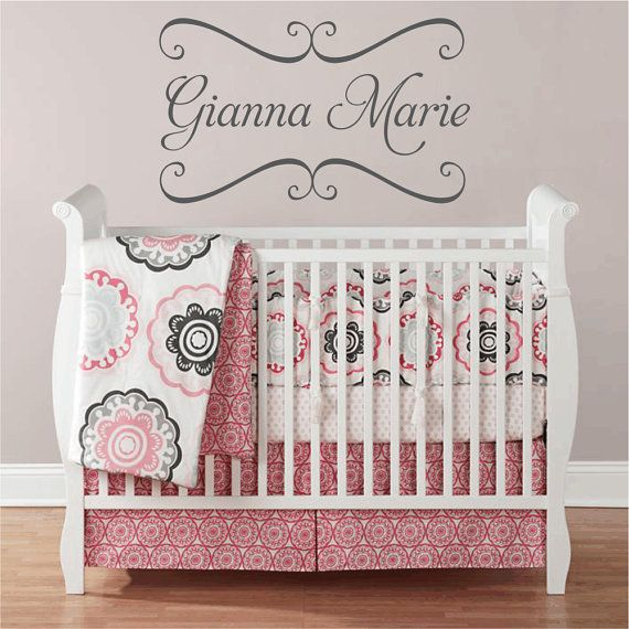 Vinyl Wall Decals Nursery Name Decal With By Fivestarsigns 45 00