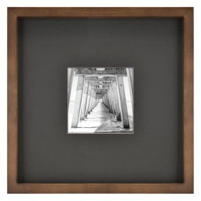 12 X 12 Matted To 5 X 5 Matted Mid Tone Wood Picture Frame Brown Project 62 Picture On Wood Wood Picture Frames Picture Frames