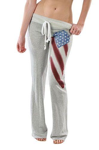 T-Party American Flag Yoga Pants $50 at www.repeatpossessions.com