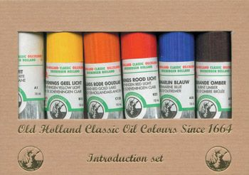 Old Holland Classic Oil Intro Set Of 6 X 18ml Tubes Oil Colours