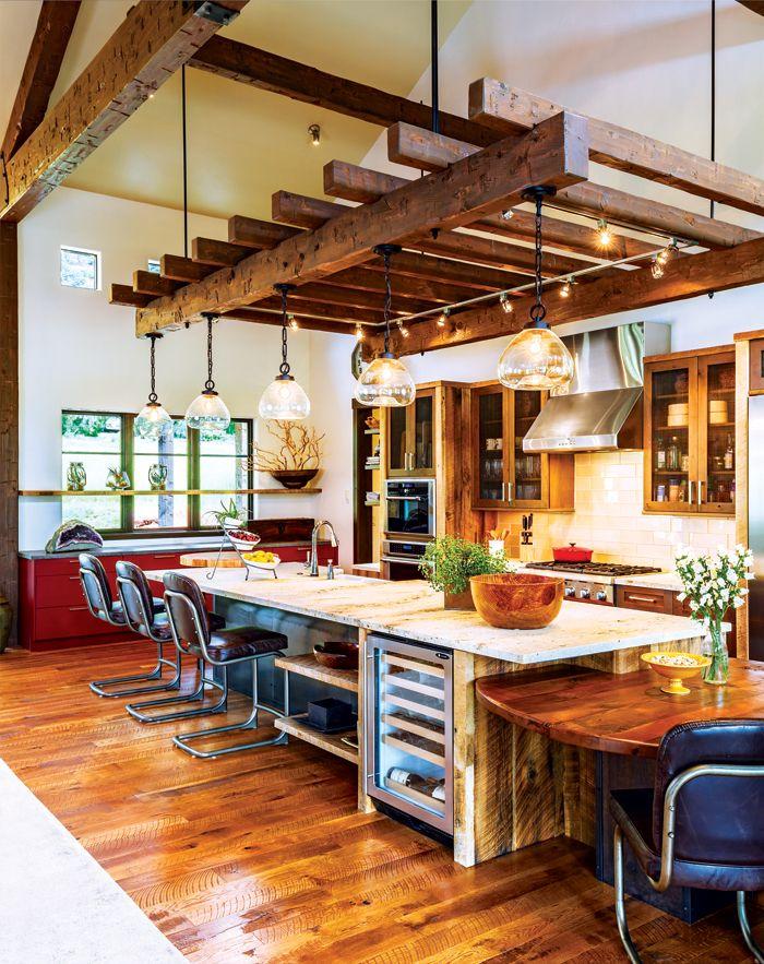 Best A Fresh Farmhouse Near The River Rustic Galley Kitchen 640 x 480