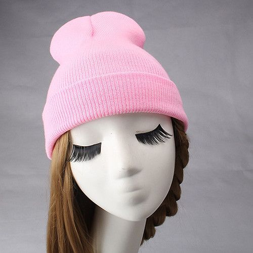 Fashion women's winter hat candy color Gorros for Female Knitted Warm Skullies caps for girls cute Touca Chapeu Feminino
