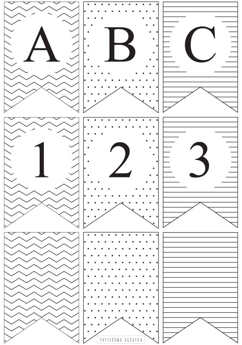 Papierowa Girlanda Do Druku Alfabet Papierowaagrafka Pl Word Search Puzzle Words Printables