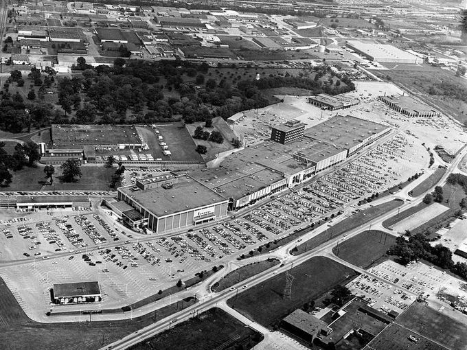 The 100 Oak Mall, shown here July 21, 1973, is packed with
