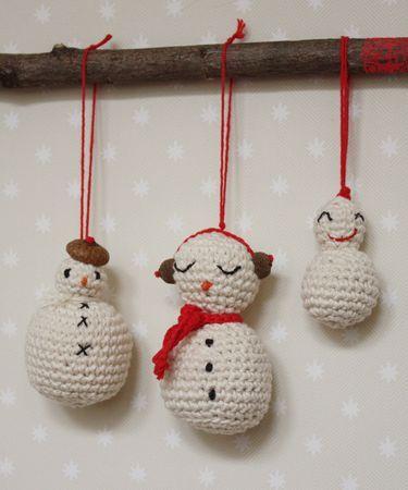 Bonhomme de neige en crochet tutoriel snowmen tutorial - Bonhomme de neige au crochet ...