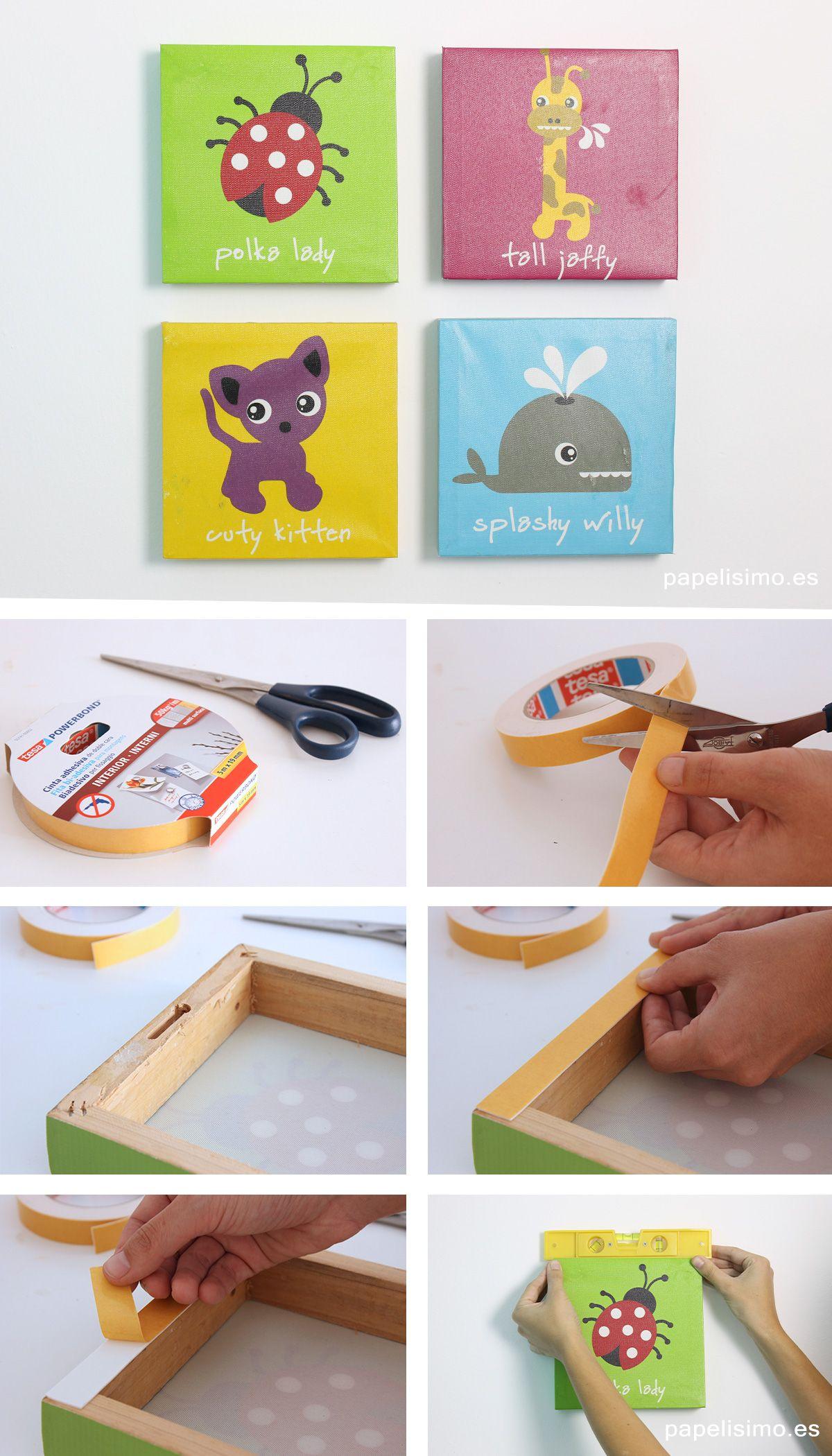 como-colgar-cuadros-con-cinta-adhesiva-tesa | D I Y | Pinterest ...