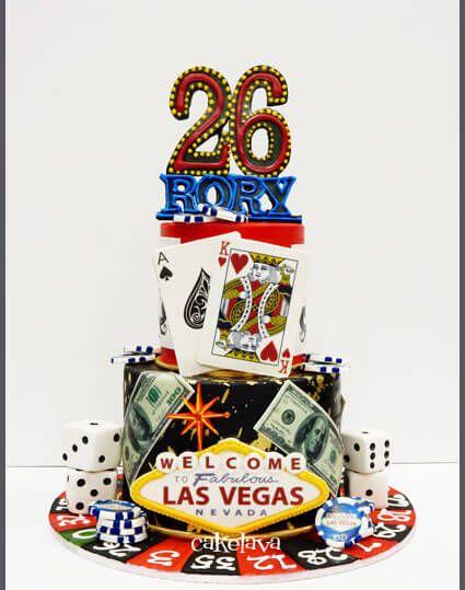 Las Vegas Themed Custom Birthday Cake By Cakelava NV