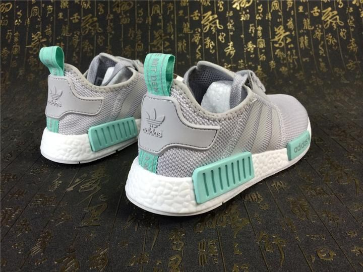 KEEVIN Adidas NMD_R1 Gray green Boost pk running shoes 15