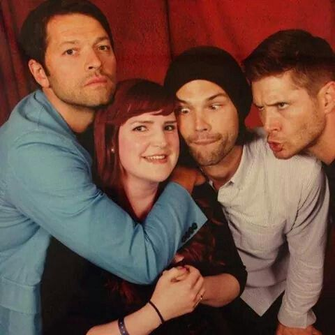 "I like to call this op ""Misha and dorky cast mates, Jared ..."