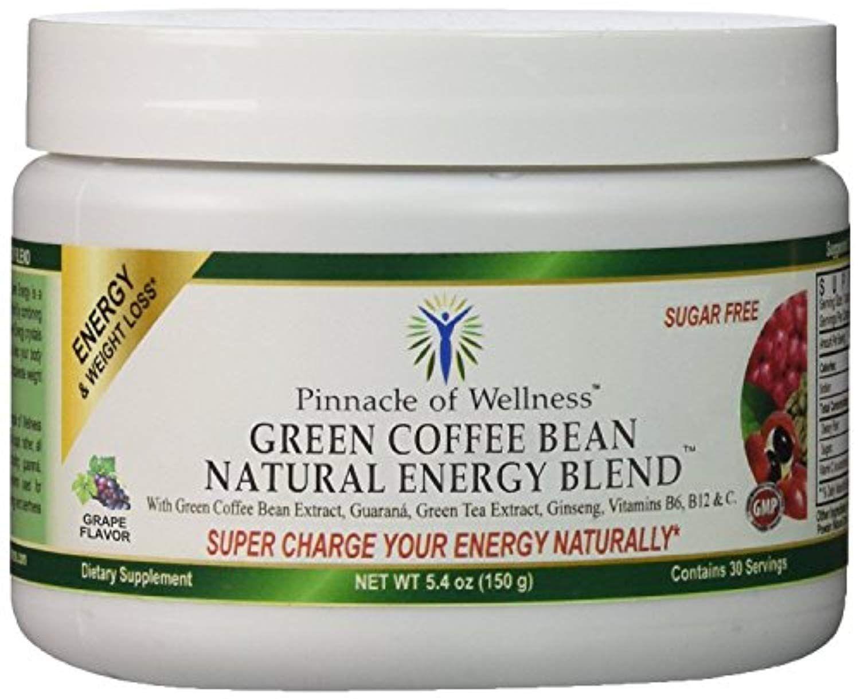 Pinnacle of Wellness Natural Green Energy Powder Grape