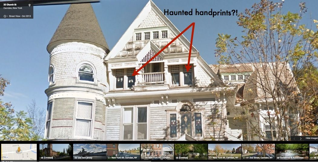 Charming For Sale: The House Haunted By Ghosts That Google Street View Captured On  Camera
