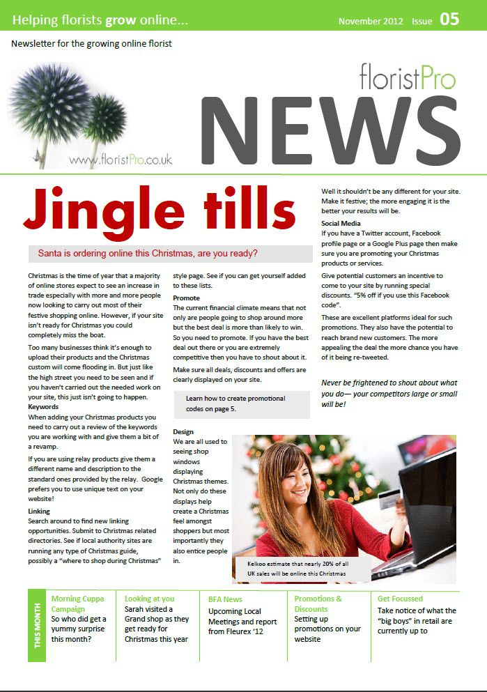 November 12 floristPro News