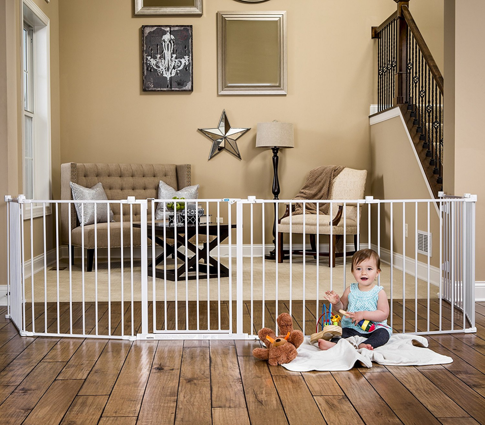 """Baby Safety Gate Play Yard Adjustable 824"""" Wide"""