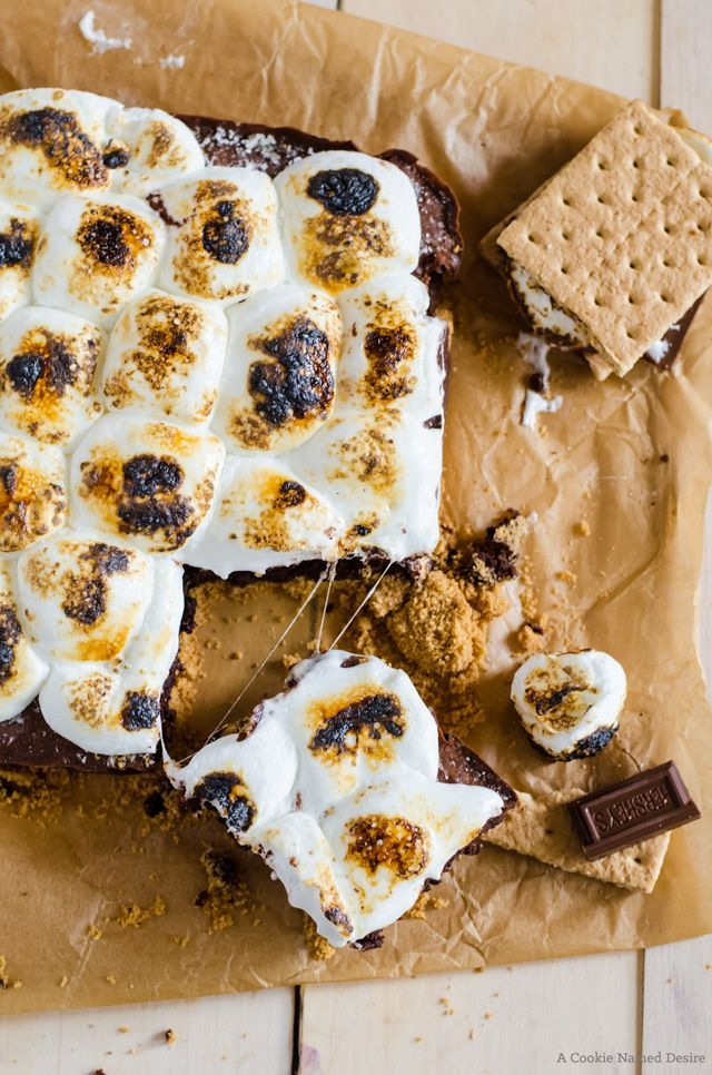 Fudgy brownies meet s'mores to create an addictive treat you won't forget.
