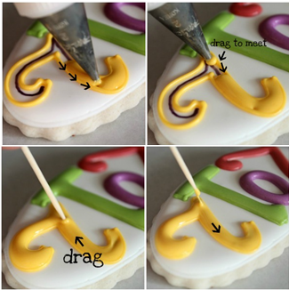 How to avoid craters in royal icing (SweetSugarBelle).