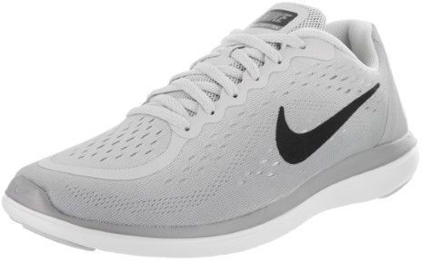 b49038b8102d Nike Flex 2017 Rn (GS) Pure Platinum Black Wolf Grey Running Shoe 7 Kids US
