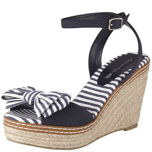 White wedge sandals, Payless shoes
