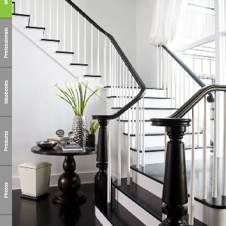 LDa Architecture And Interior Design   Interior Designer   Cambridge    Shingle Style   Transitional   Staircase   Monochromatic   White   Black    Sleek ...