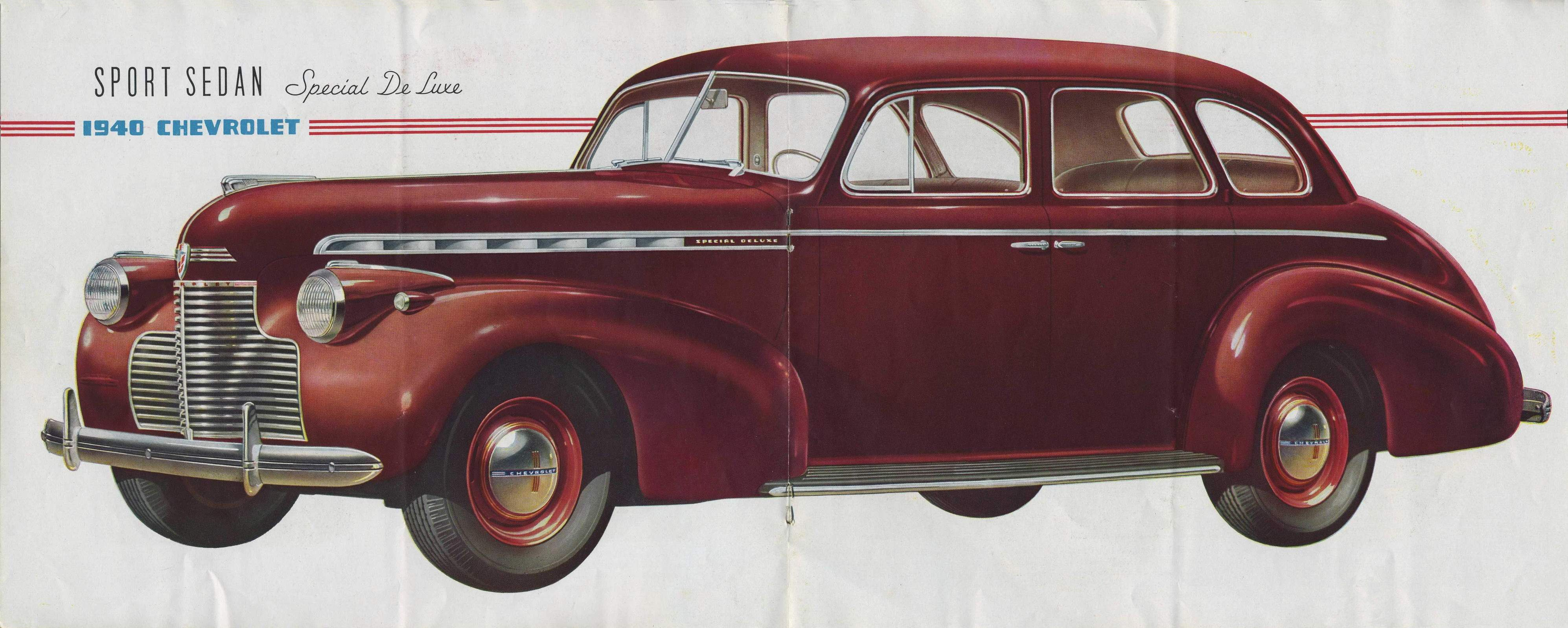1940 chevrolet 4 door sedan special deluxe and standard master