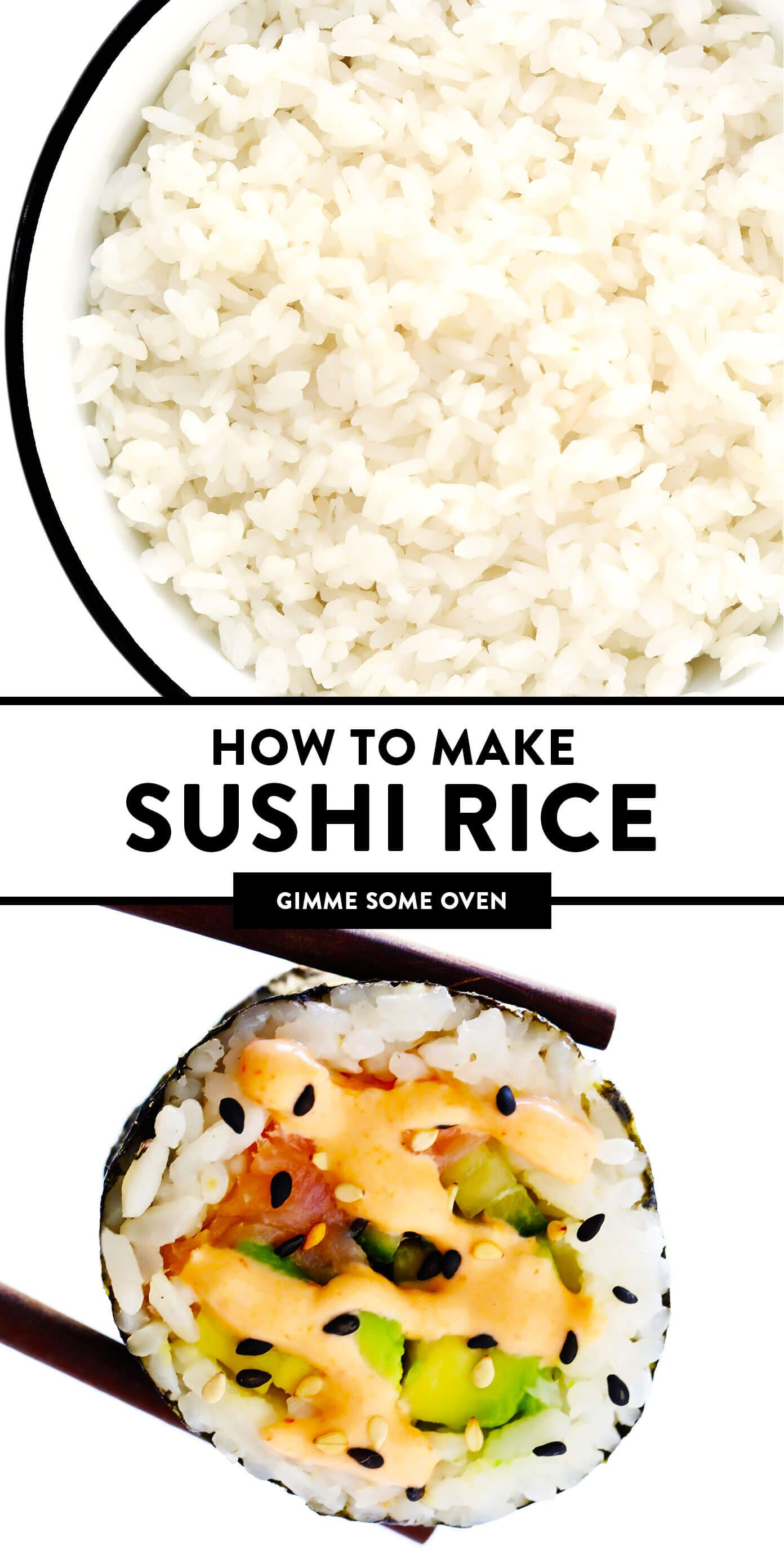 Sushi Rice Recipe Gimme Some Oven Recipe Sushi Rice Sushi Rice Recipes Recipes