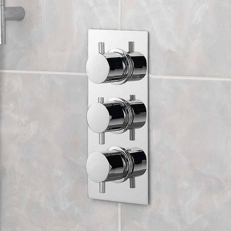 Mode Harrison Square Triple Thermostatic Shower Valve With