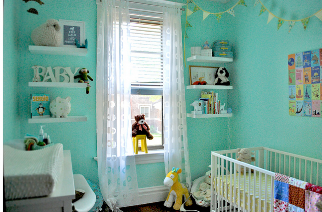Nursery Decor For Baby Boy With Bright Blue Themed Color Png