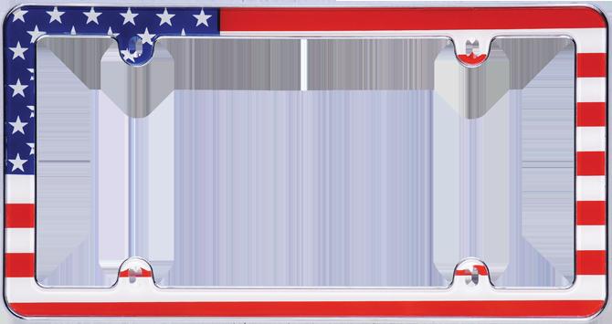 patriotic usa flag car license plate frame accessory