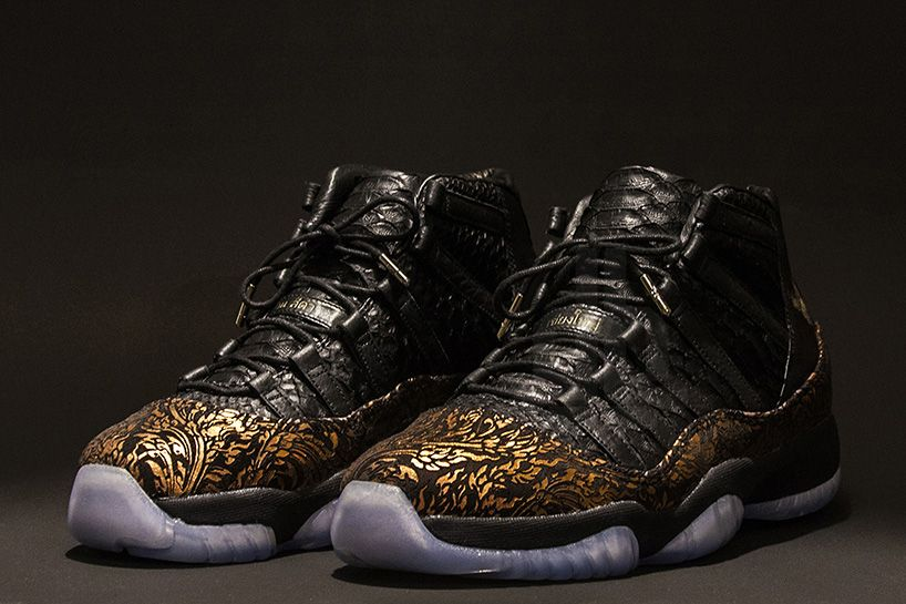 half off 2cd83 eafd3 jordan XI shoes reimagined by KXIV with details of thai ...