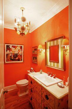 10 Interior Design Tips For Holiday Hosting In Denver Orange Bathroom Decor Orange Bathrooms Orange Bathrooms Designs