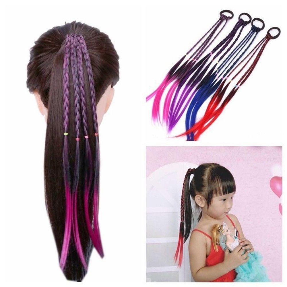Wig Ponytail Holder Elastic Hair Rope Hair Rubber Band Wig Braided Headband