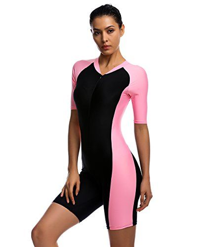 fa997b1ee1bbd BELLOO Swimsuit for Women One Piece Short-sleeve surfing ... https