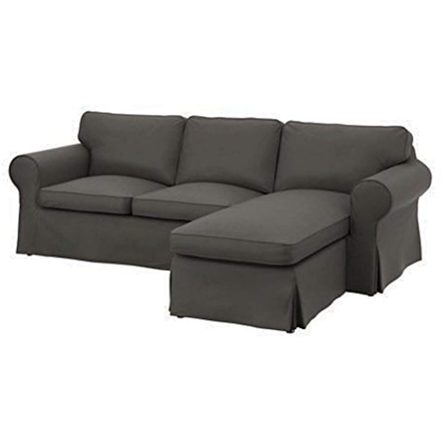 The Dense Cotton Ektorp Loveseat 2 Seater With Chaise Lounge Cover Replacement Is Custom Made For Ikea Ektorp Two S Ikea Ektorp Ektorp Sofa Slipcovered Sofa