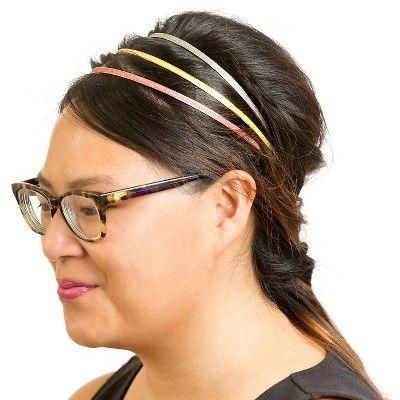 La-ta-da Glitter Metallic Headbands - 3ct, Women's, Silver