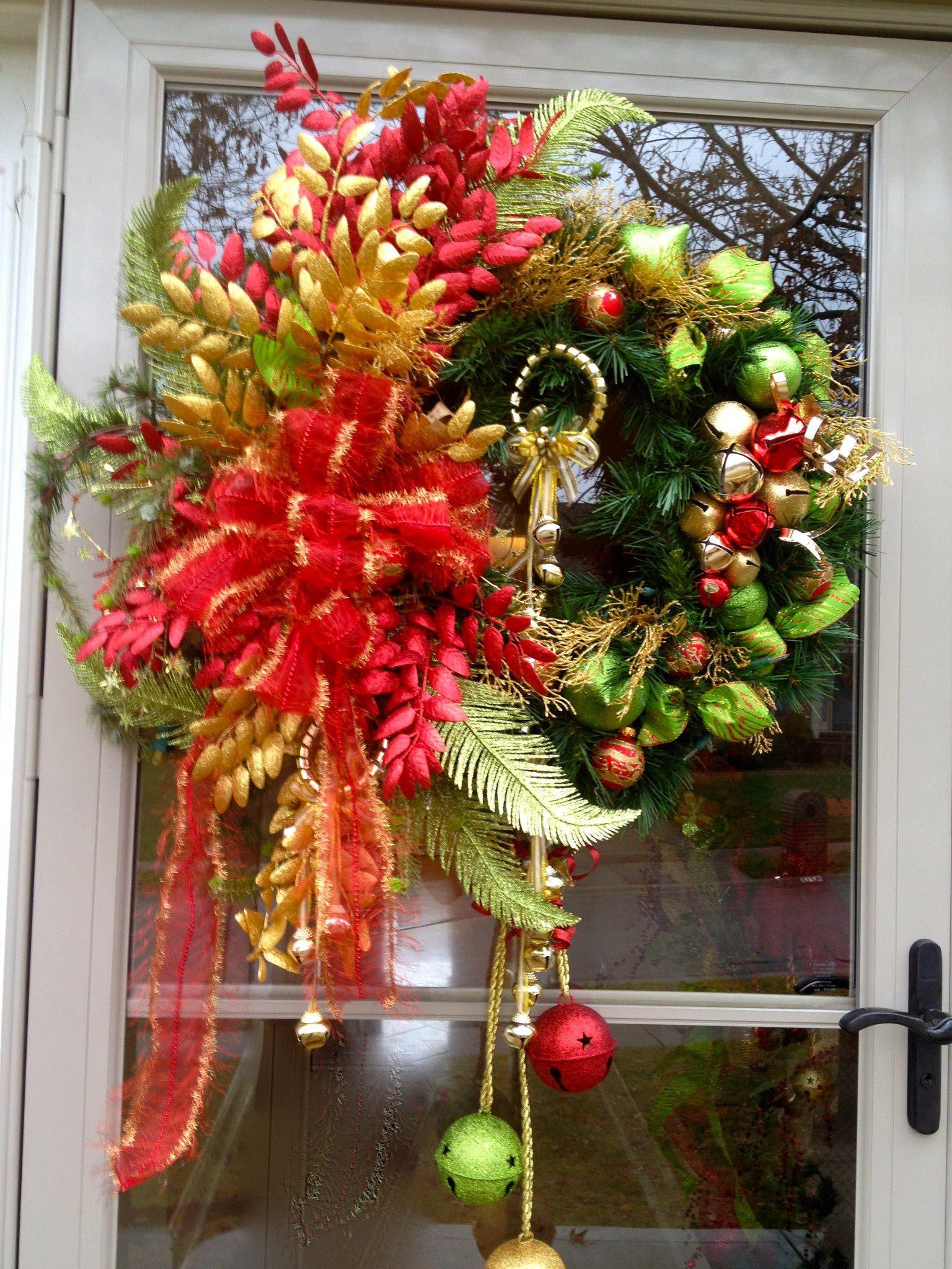 Front Door Wreath Wreaths And Bows Pinterest