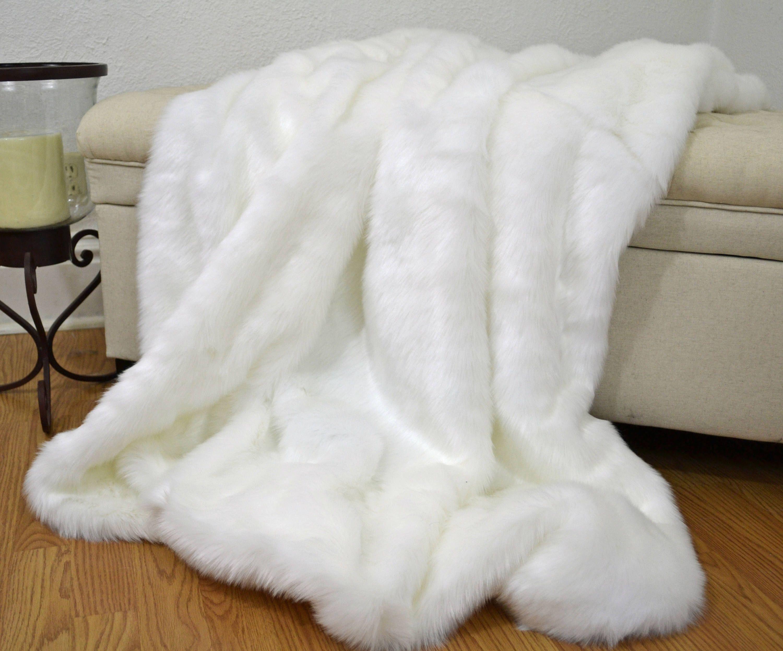 Faux Fur Throw Stunning Pure White Faux Fur Polar Bear Blanket Throw Fur Bedding Lap Blanket Fur Bedding White Faux Fur Throw Faux Fur Throw