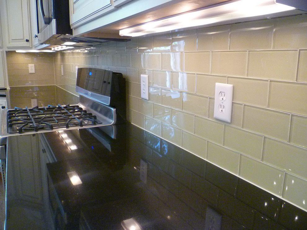 Subway Tile Kitchen Backsplash Kitchen Contemporary With