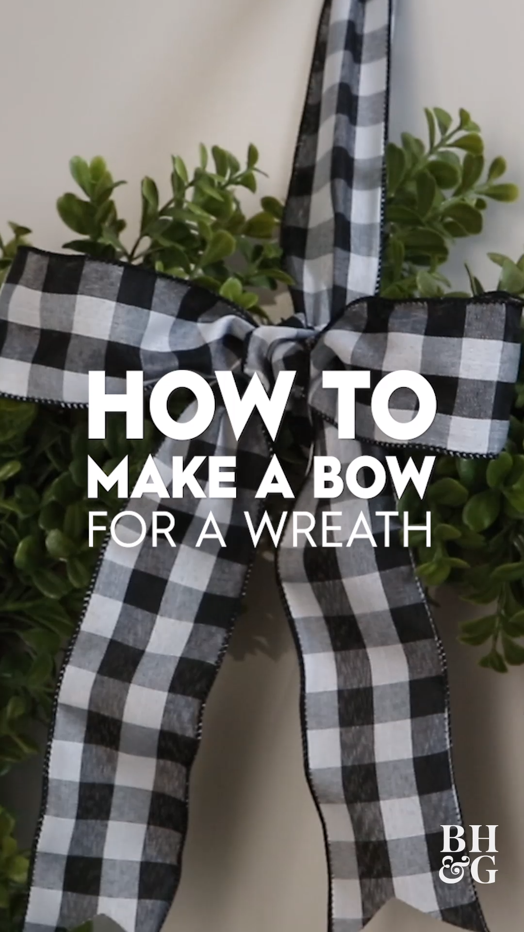 How to Make a Bow for a Wreath in 3 Easy Steps  #howtomakeabowwithribbon