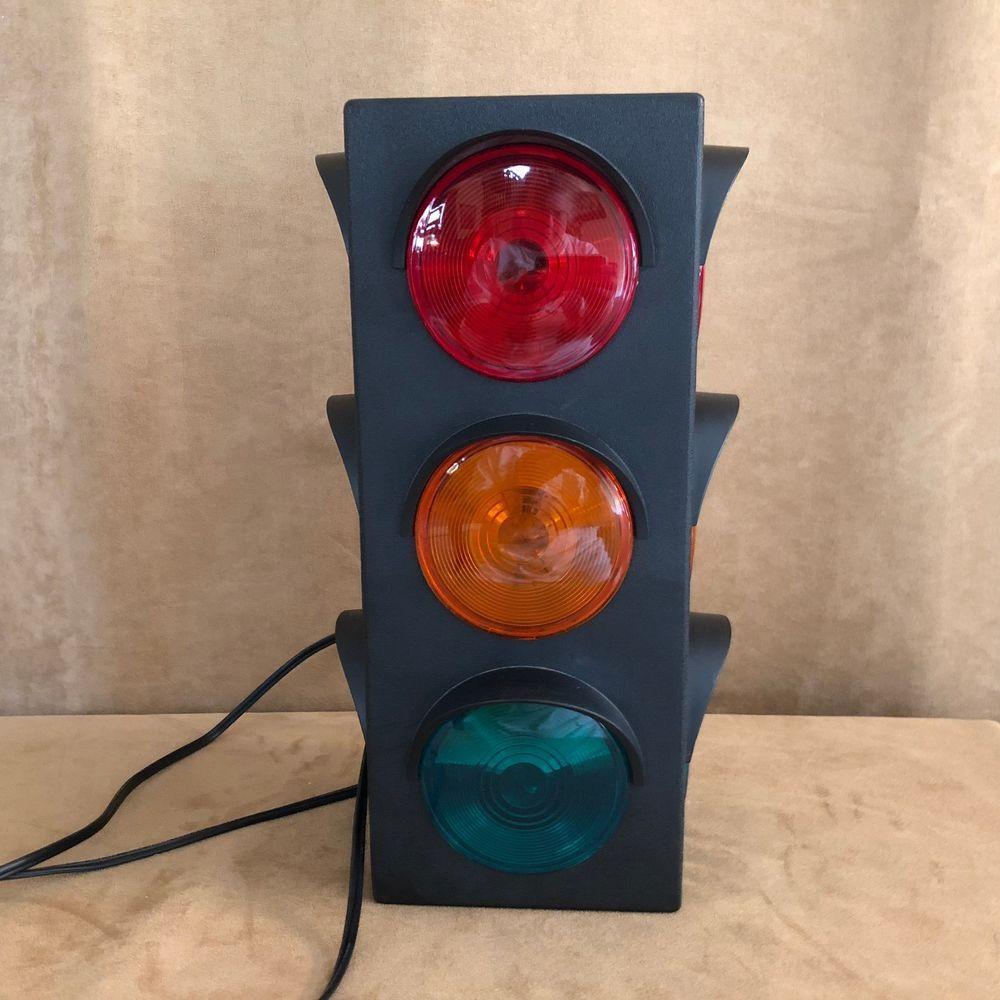 17 Hanging Traffic Stop Light Bar Lamp Three Sided Railroad Night Plastic Bar Lighting Stop Light Lamp