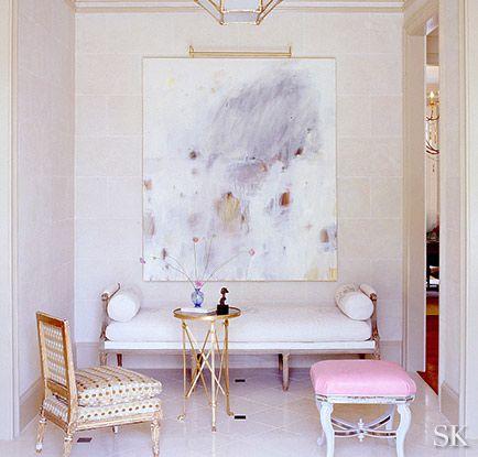 Suzanne Kasler #pastel #pink #interiordesign #homedecor #interiors #art #prettyinterior