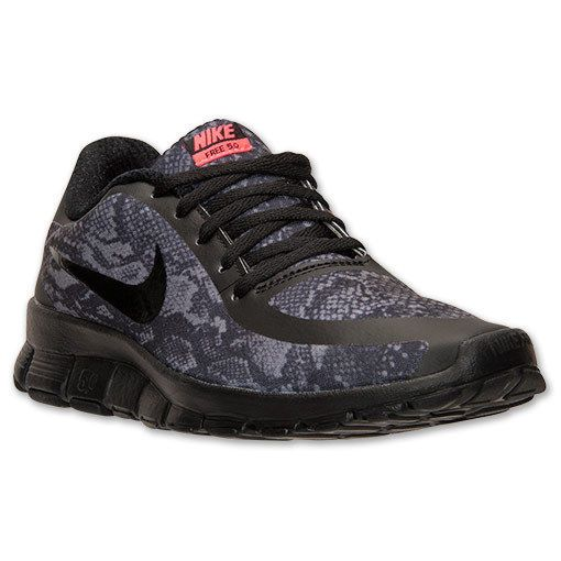 buy popular 30ef5 4b6d1 Details about Womens Nike Free 5.0 v4 Snake Print Black ...