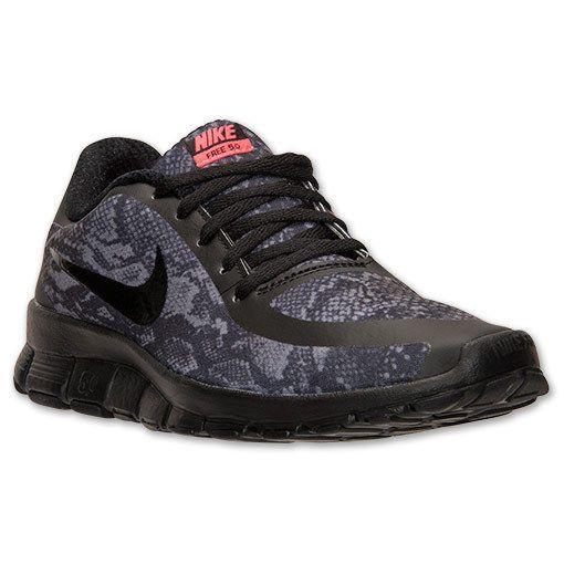Details about Womens Nike Free 5.0 v4 Snake Print Black