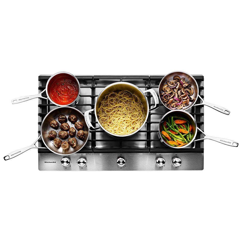 Kitchenaid 30 inch 5burner gas cooktop stainless steel