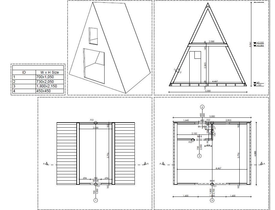 tipis en bois sans permis de construire frame a. Black Bedroom Furniture Sets. Home Design Ideas