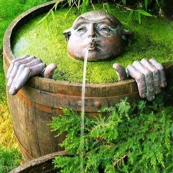 Photo of 7 Fun Ways To Create A Water Feature From Half Whiskey Barrels – Container Water Gardens