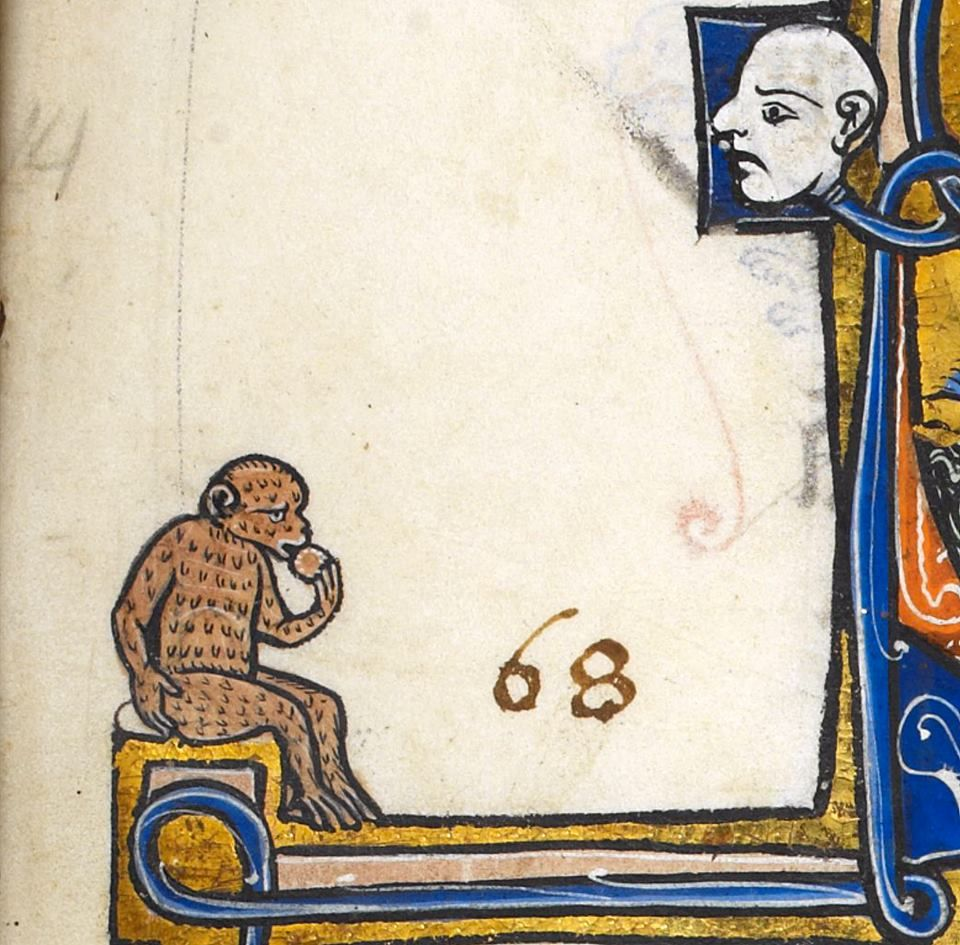Mondays… I know, little fella. I know. 'Oscott Psalter', England ca. 1265-1270 (British Library, Add 50000, fol. 101r)