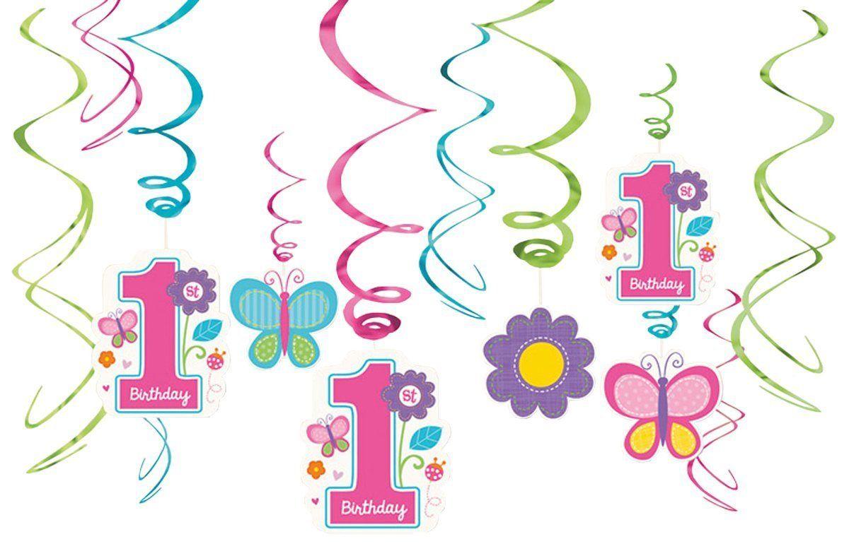 Hangedekoration Sweet Birthday Girl 12 Teilig Schones Deko Set